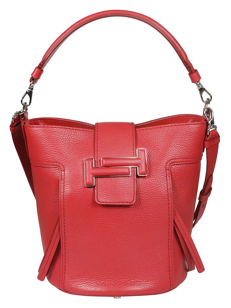 Tod's Double T Bucket Bag - Red