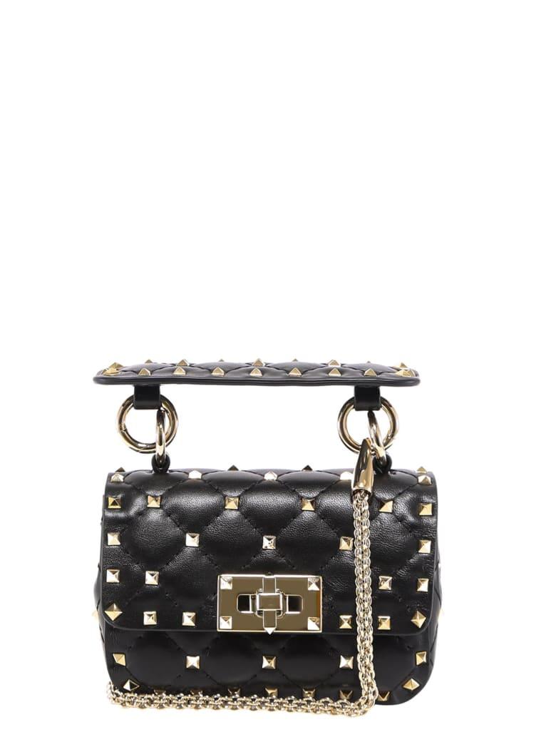 Valentino Garavani Rockstud Spike Shoulder Bag - Black
