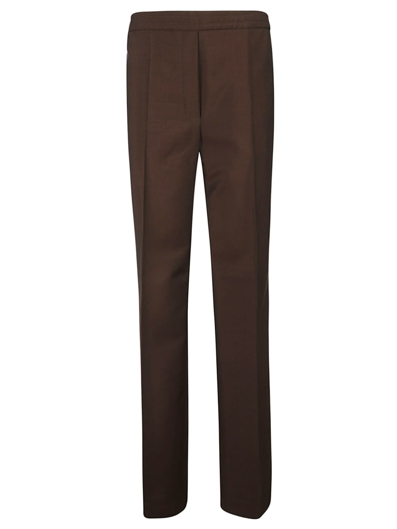 Acne Studios Long Straight Elasticated Waist Trousers - Brown