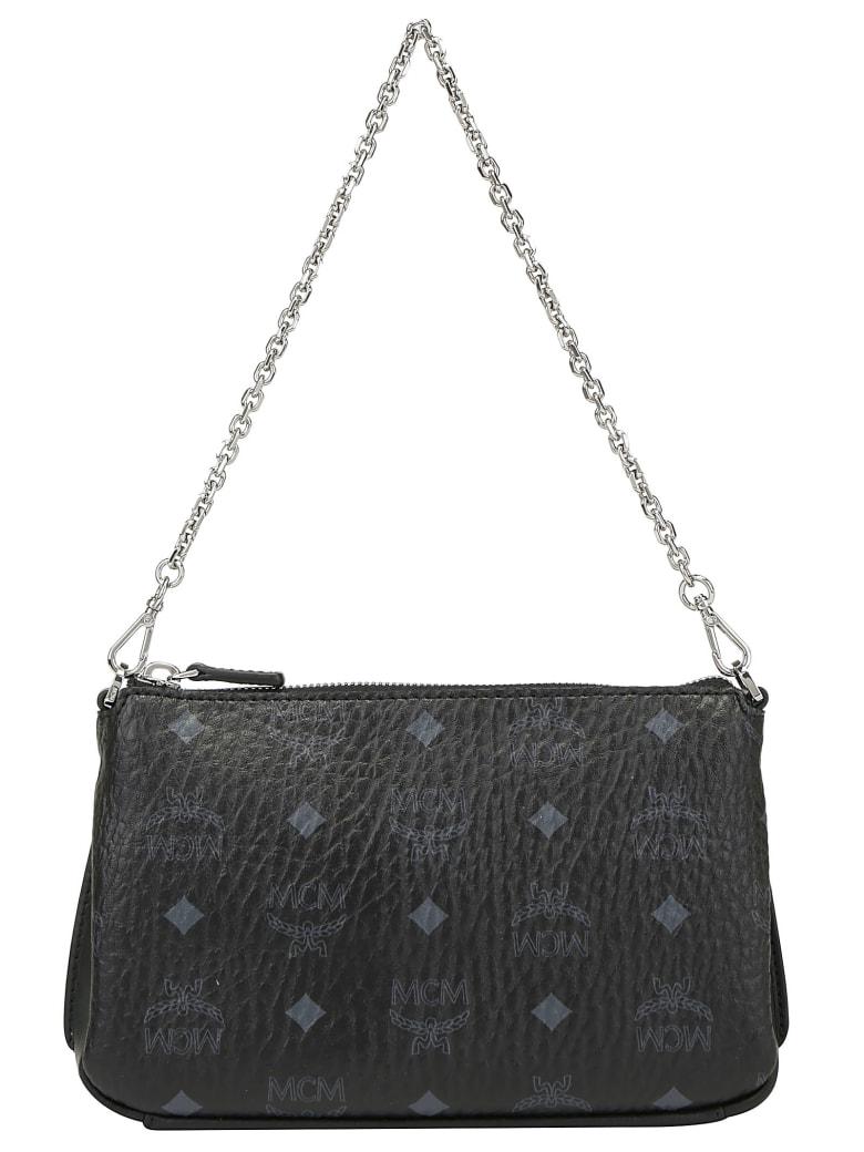 MCM Millie Medium Crossbody Bag - Black