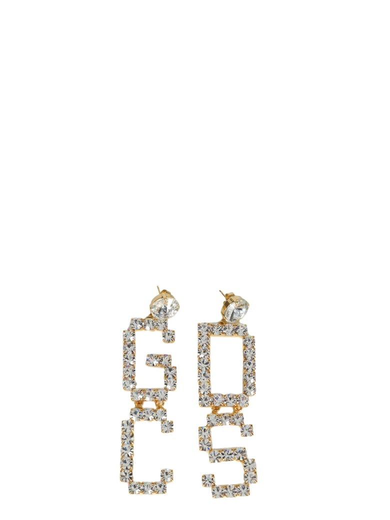 GCDS Mix Strass Earrings - Bianco