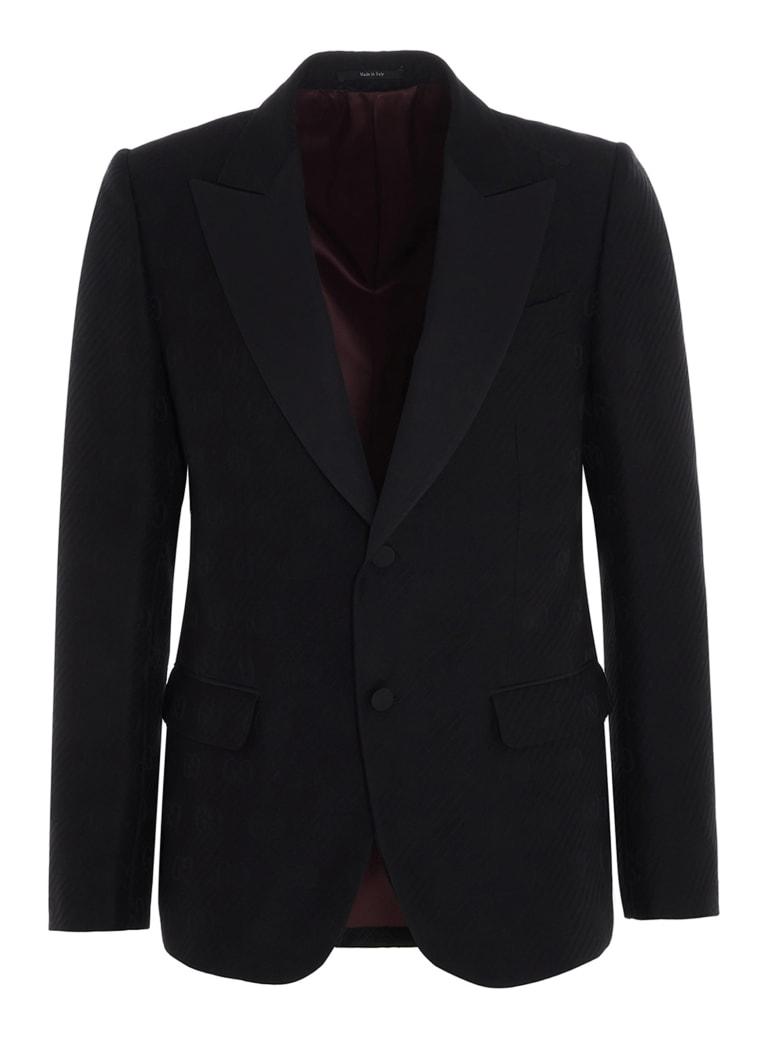 Gucci 'gg Diagonal' Blazer - Black