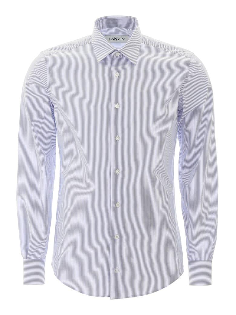 Lanvin Striped Shirt - WHITE NAVY (Light blue)