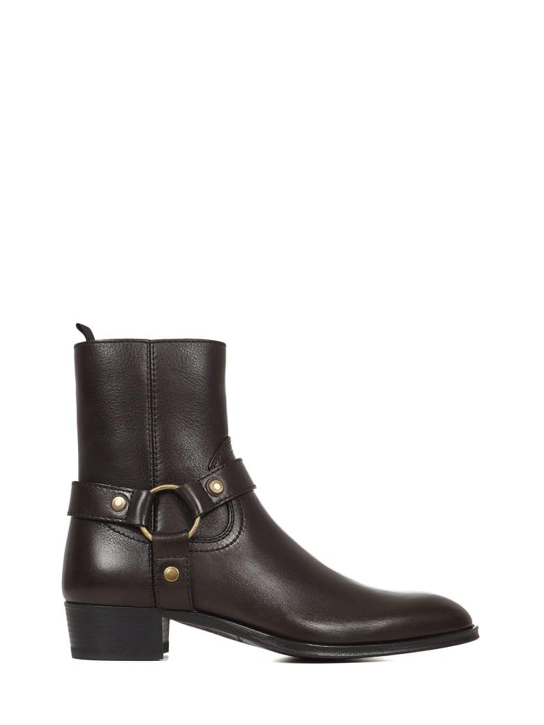 Saint Laurent Wyatt Boots - Brown