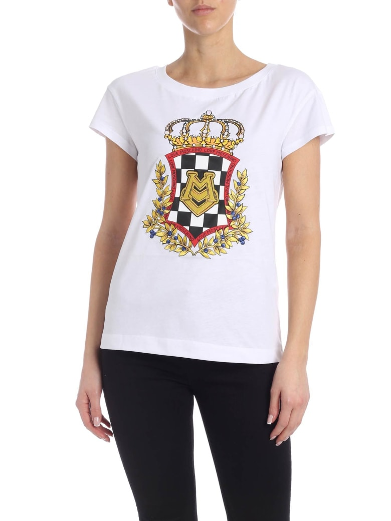 Love Moschino Scudder Tee - Bianco