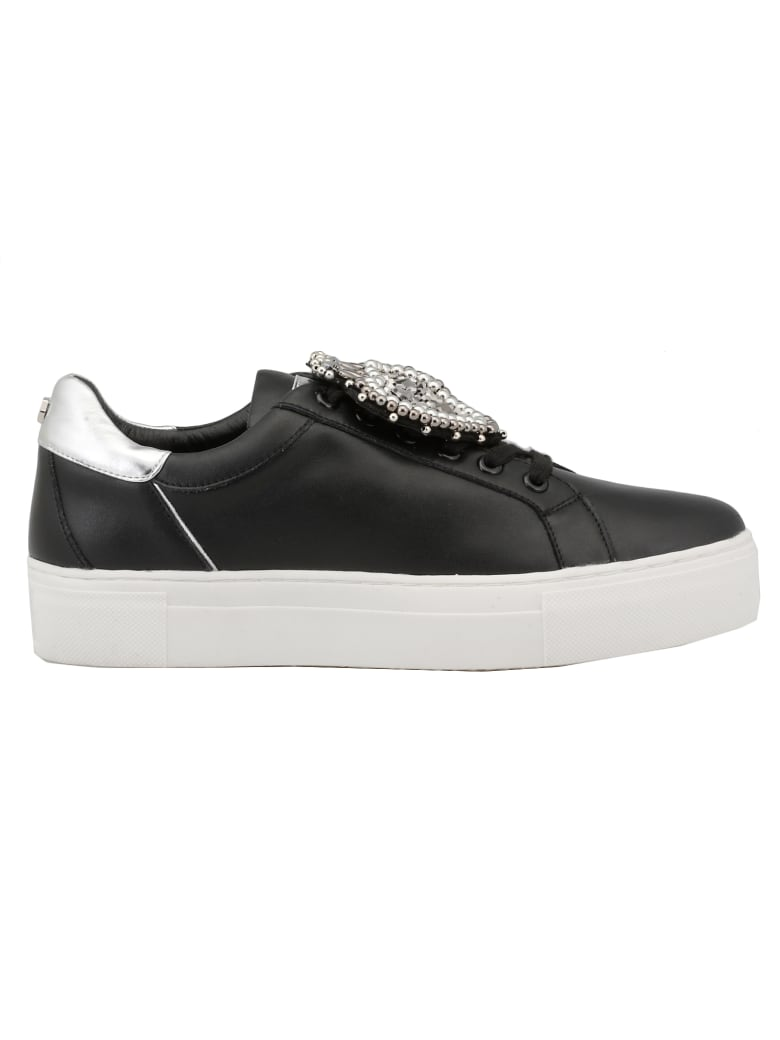 Cult Leather Sneaker - BLACK