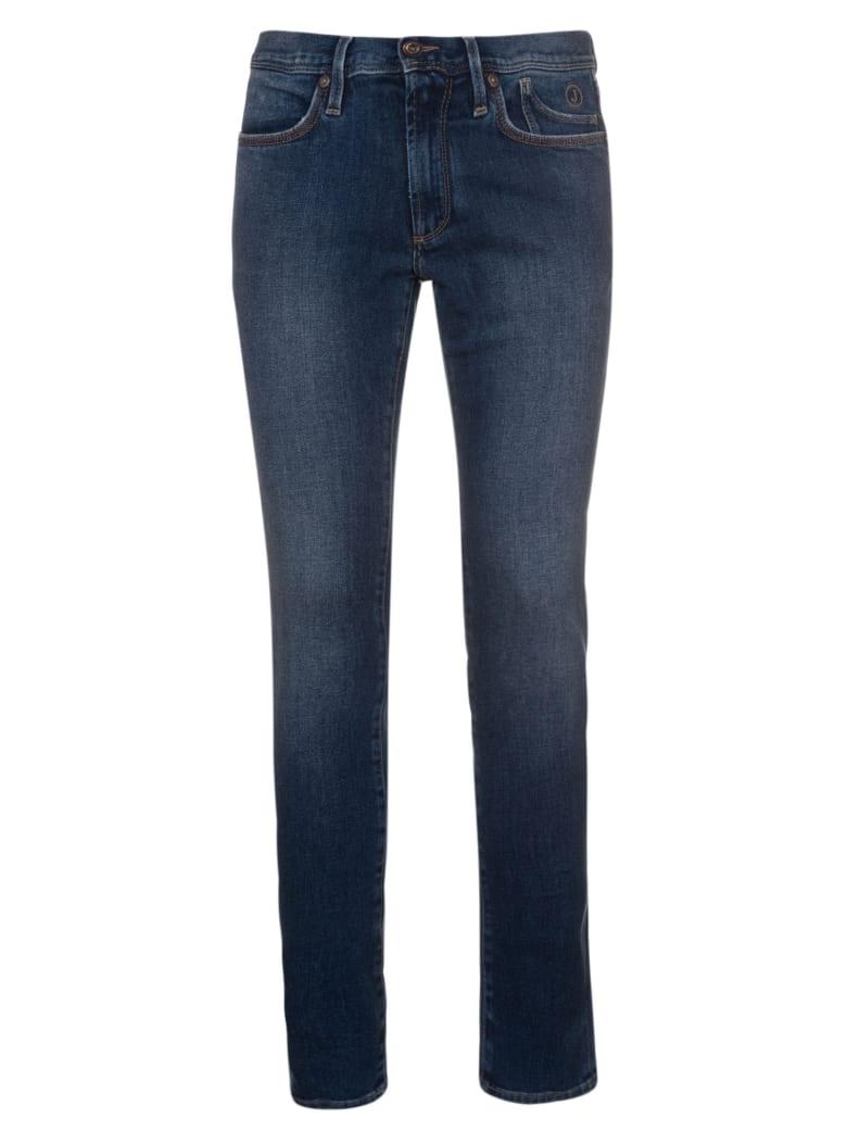 Jeckerson Five Pockets Slim Cross Jeans - Id Blu