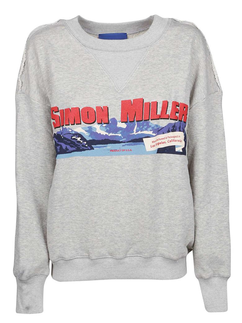 Simon Miller Mountain Print Sweatshirt - Grey Whith Sm Mountain Print