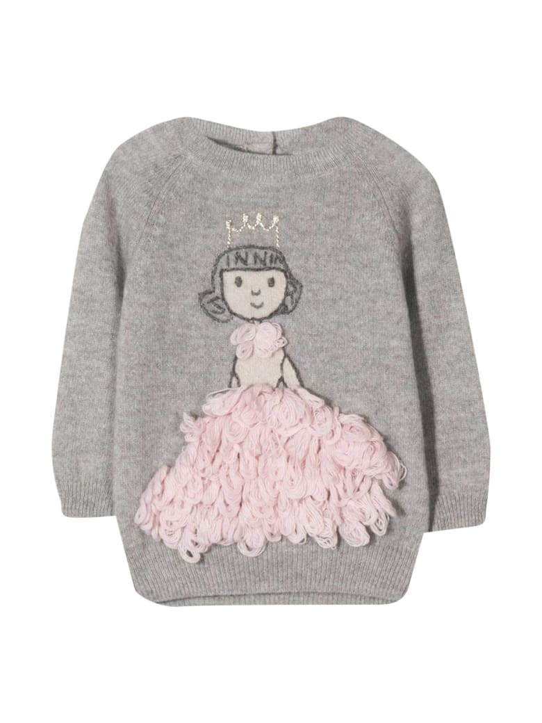 Il Gufo Gray Sweater - Rosa