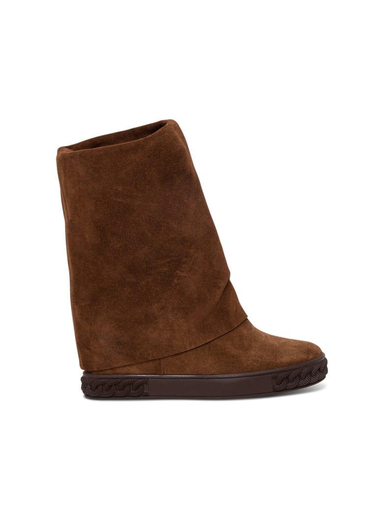 Casadei Cuffed Boots - Brown