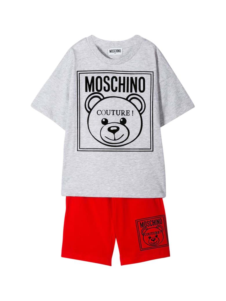 Moschino Kids Sport Suit With Logo - Grigio melange