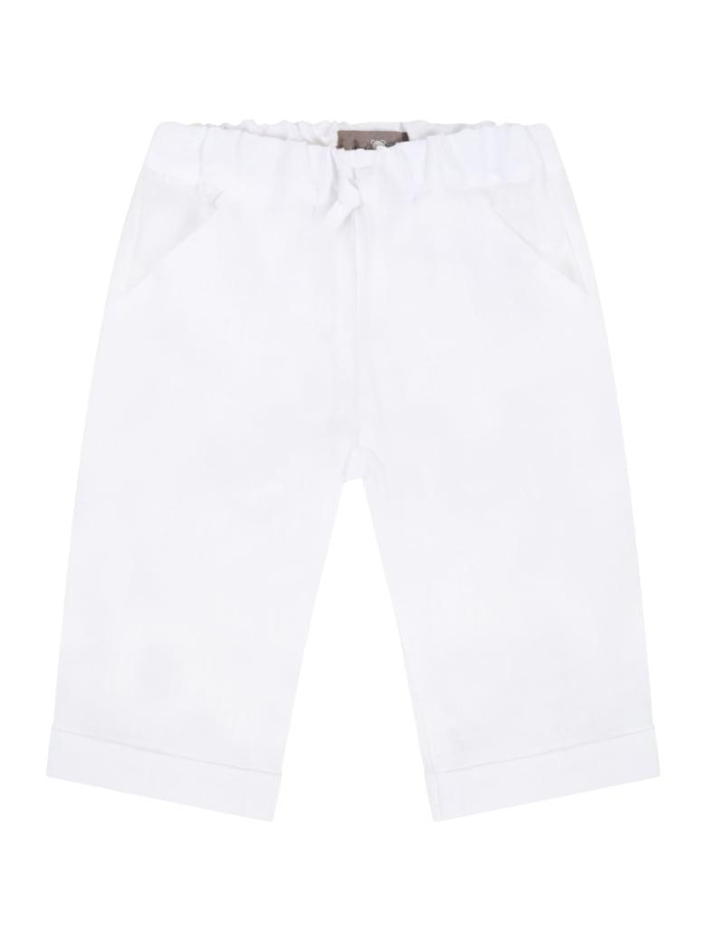 Little Bear White Trousers For Babykids - White