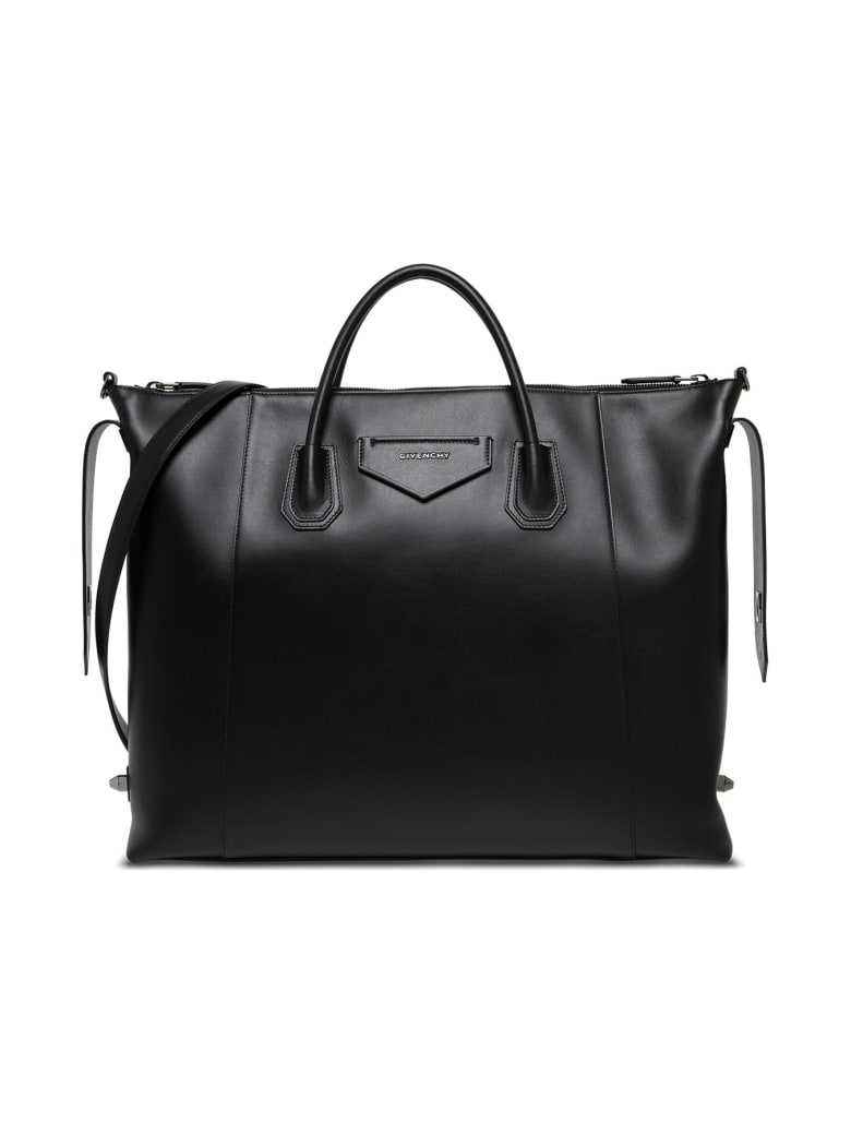 Givenchy Antigona Shoulder Bag In Black Leather - Nero