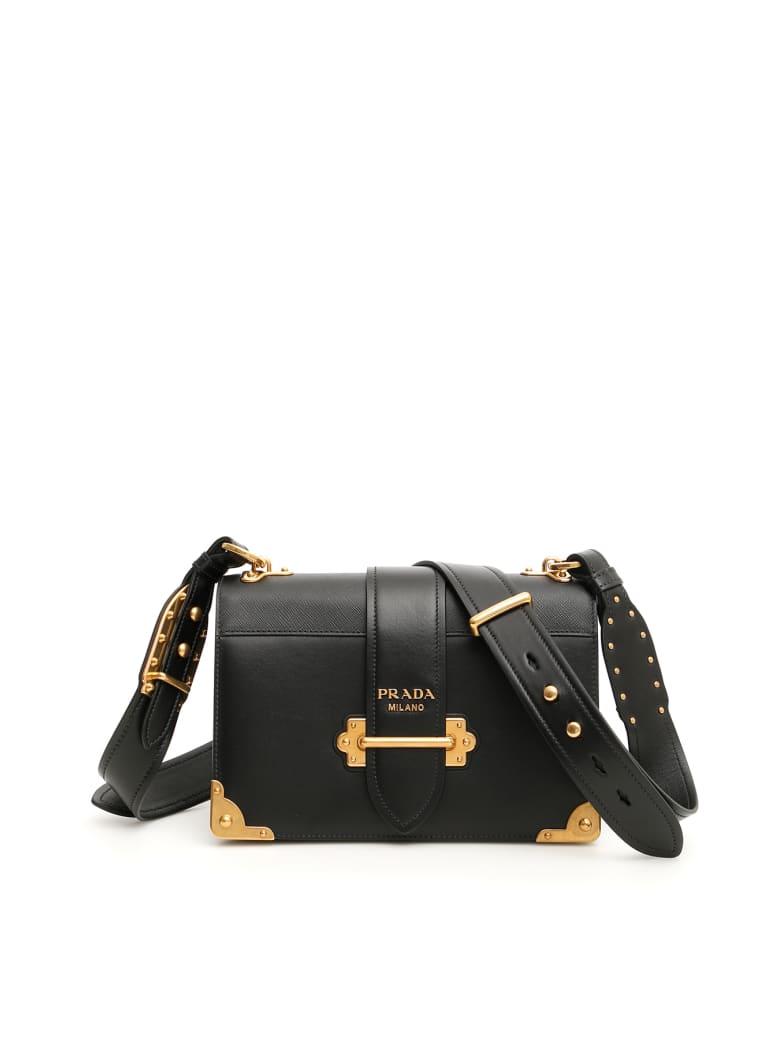 Prada Cahier Shoulder Bag - NERO (Black)