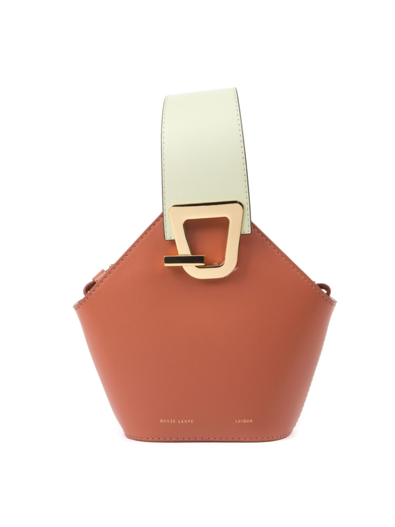 DANSE LENTE Rosewood And Mint Leather Jhonny Bucket Bag - Rosewood/mint