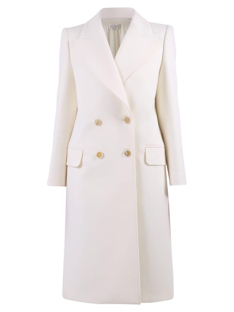 Alexander McQueen Double Breasted Coat - Ivory