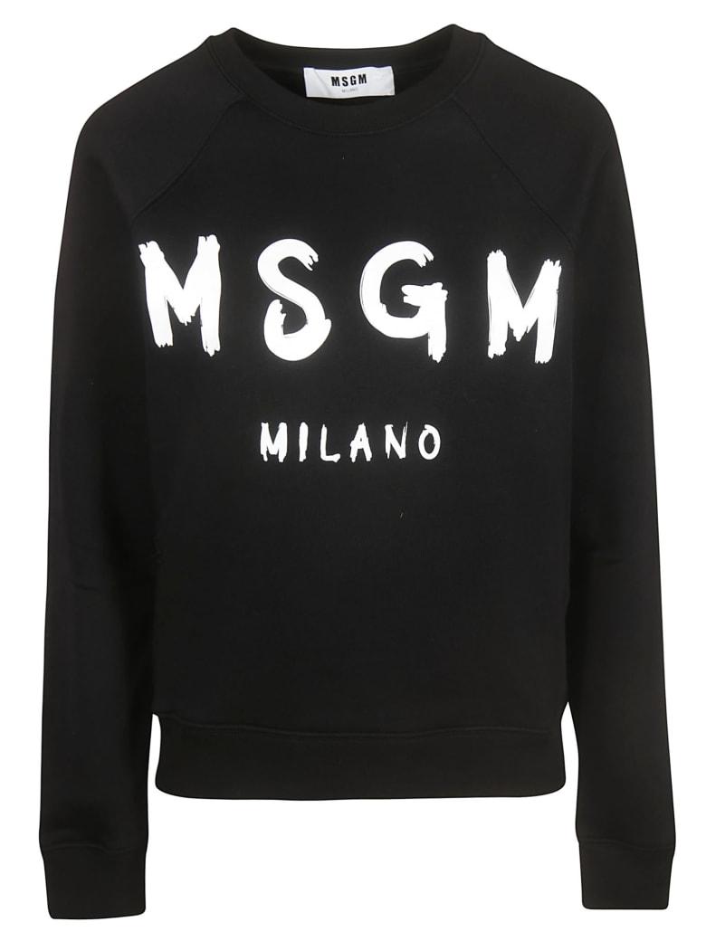 MSGM Classic Logo Print Sweatshirt - black