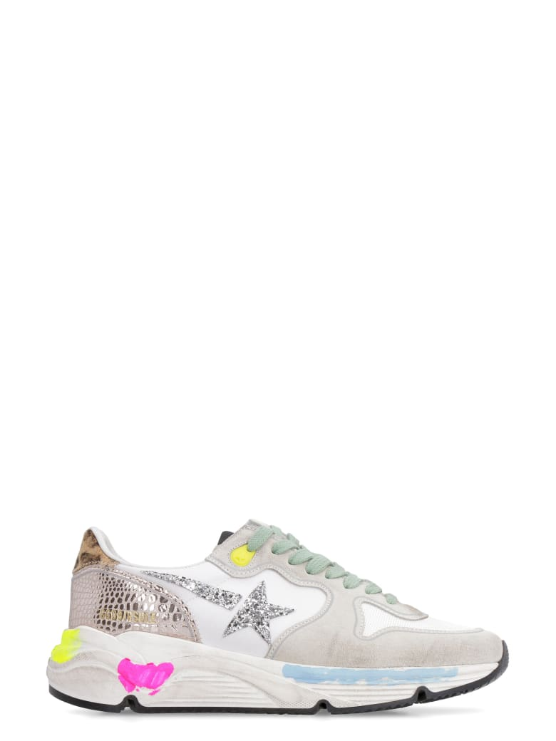 Golden Goose Running Sole Leather And Suede Inserts Sneakers - Multicolor