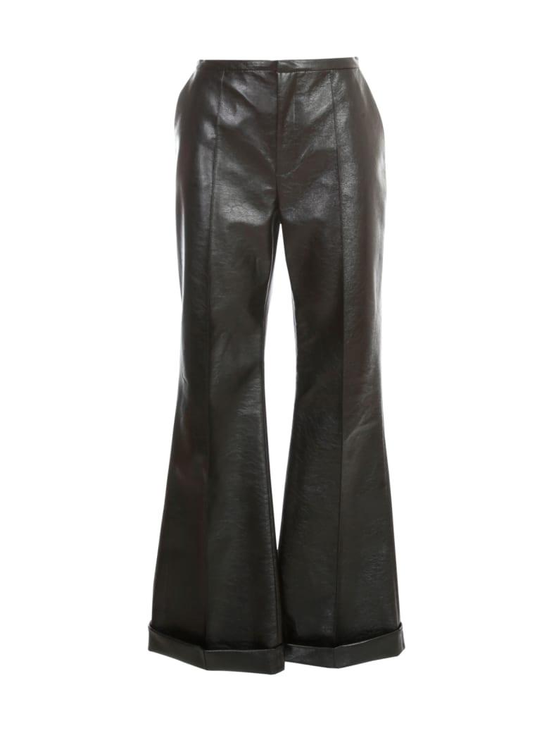 Philosophy di Lorenzo Serafini Leather Straight Pants - Black