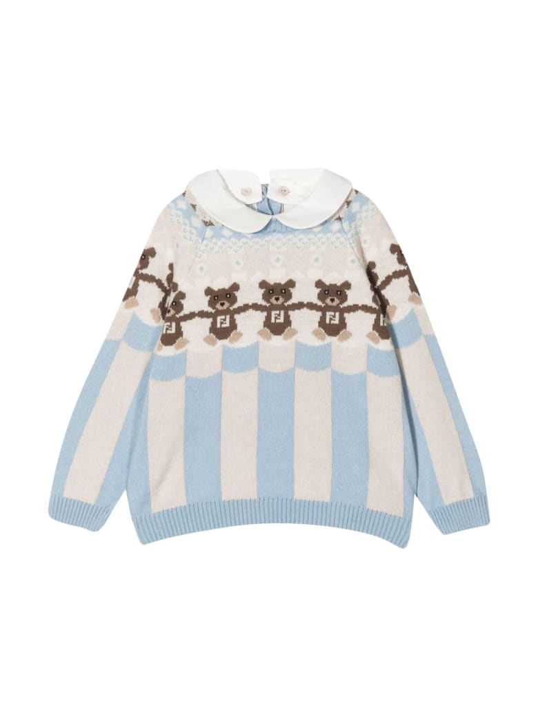 Fendi Teddy Bear Sweater - Azzurro