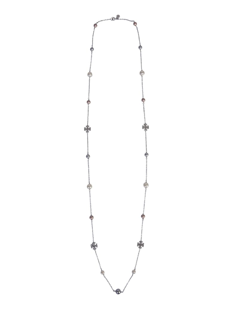 Tory Burch Carrie Over Necklace - ARGENTO