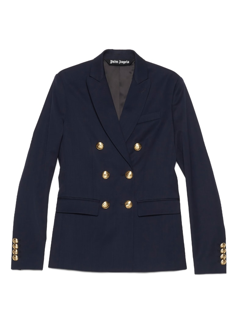 Palm Angels 'classic Palm' Blazer - Blue