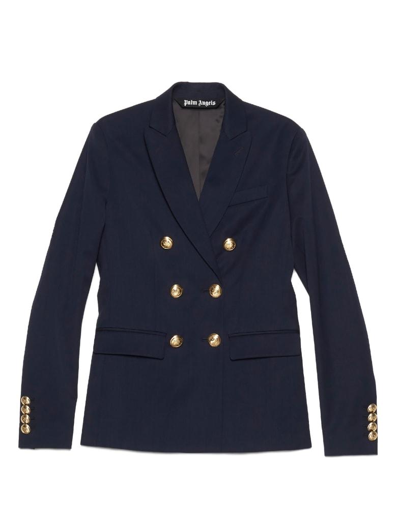 Palm Angels 'classic Palm' Blazer - Navy Blue Navy Blue