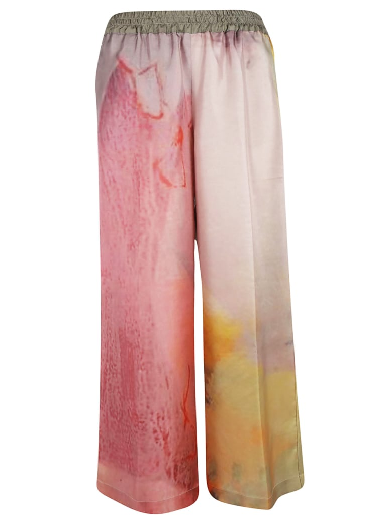 f cashmere Printed Flared Trousers - Multicolor