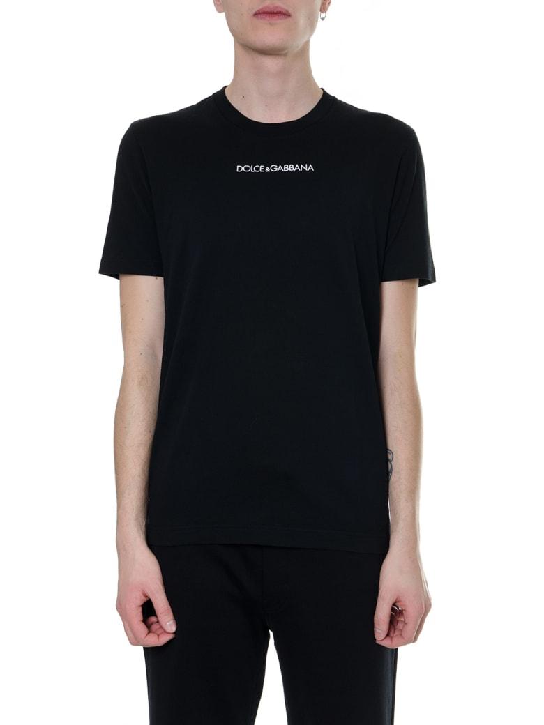 Dolce & Gabbana Dolce & Gabbana Black Cotton   T-shirt - Black