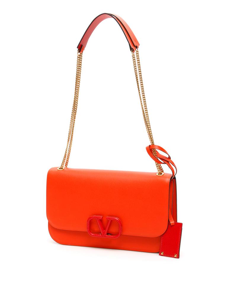 Valentino Garavani Vlock Shoulder Bag - GOLDFISH ROUGE PU (Orange)