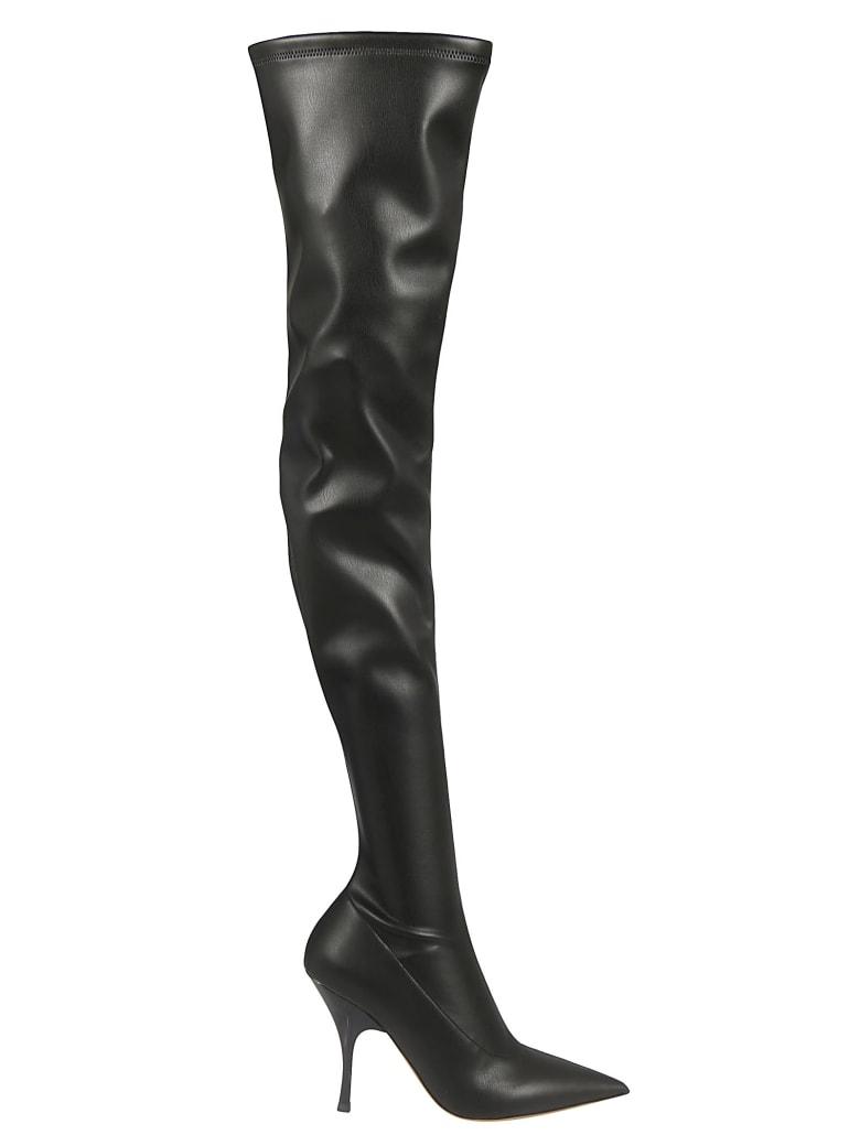 Rochas Side-zipped High Boots - Black