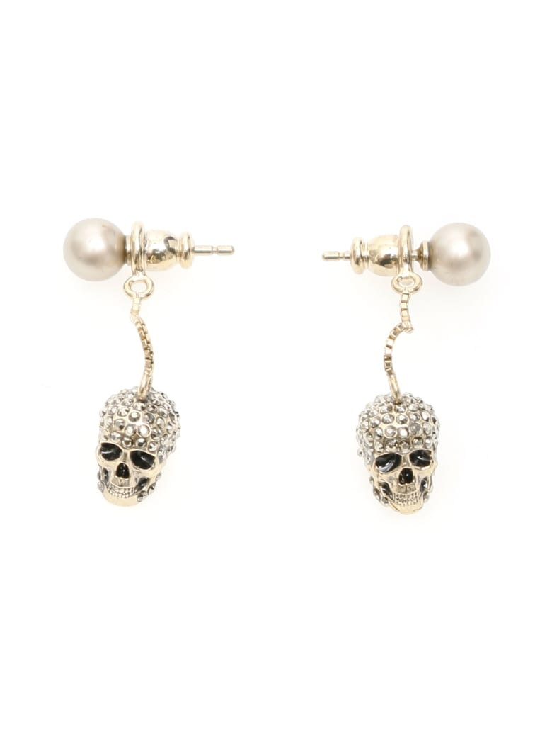 Alexander McQueen Pave Skull Earrings - Mix