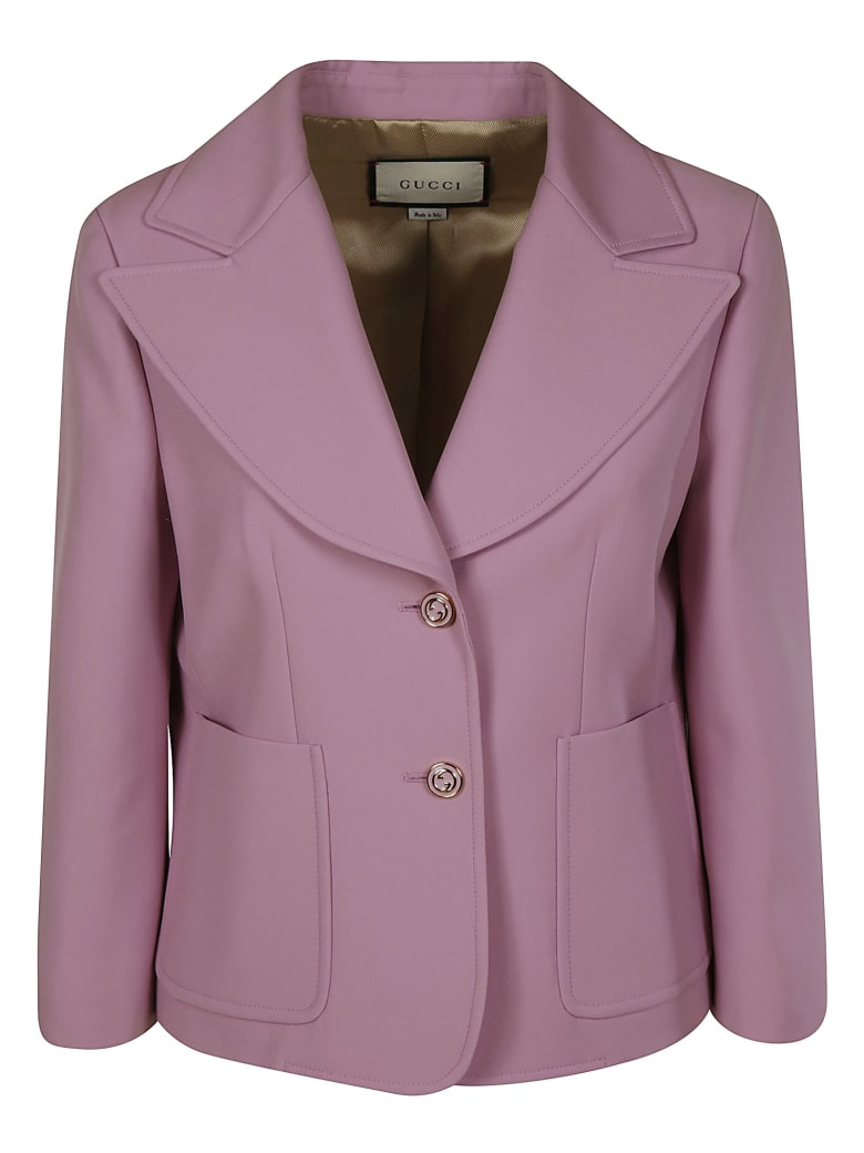 Gucci Two-button Cropped Blazer - Pink