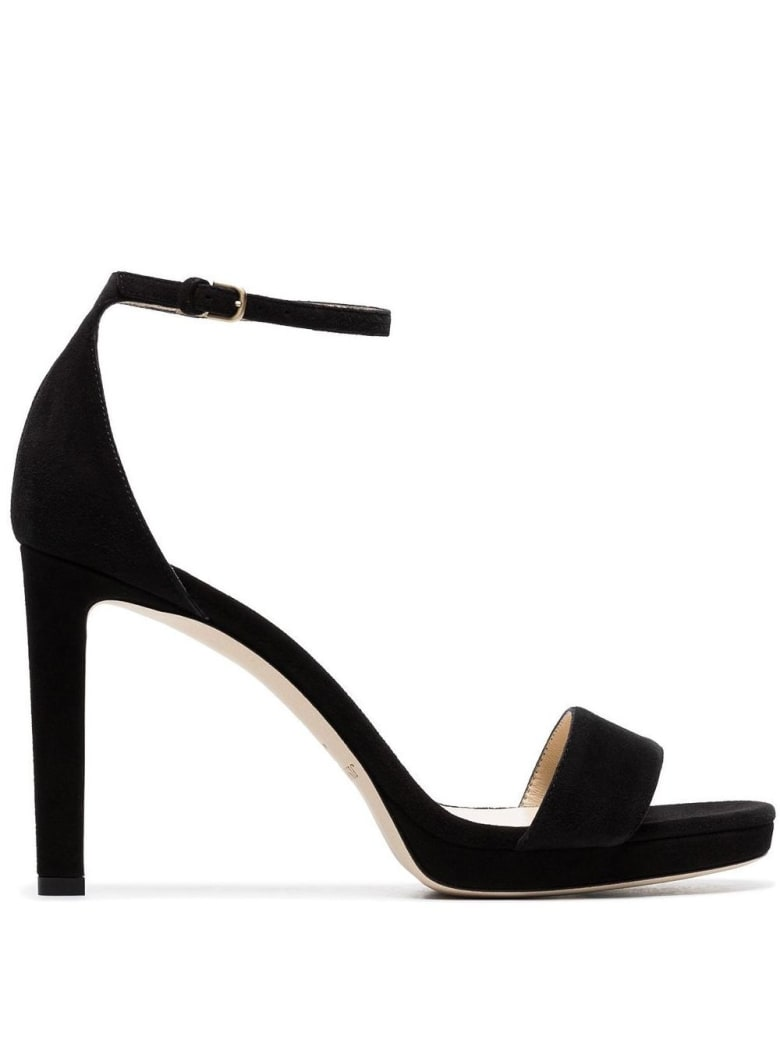 Jimmy Choo Misty Sandals In Suede Leather - Black