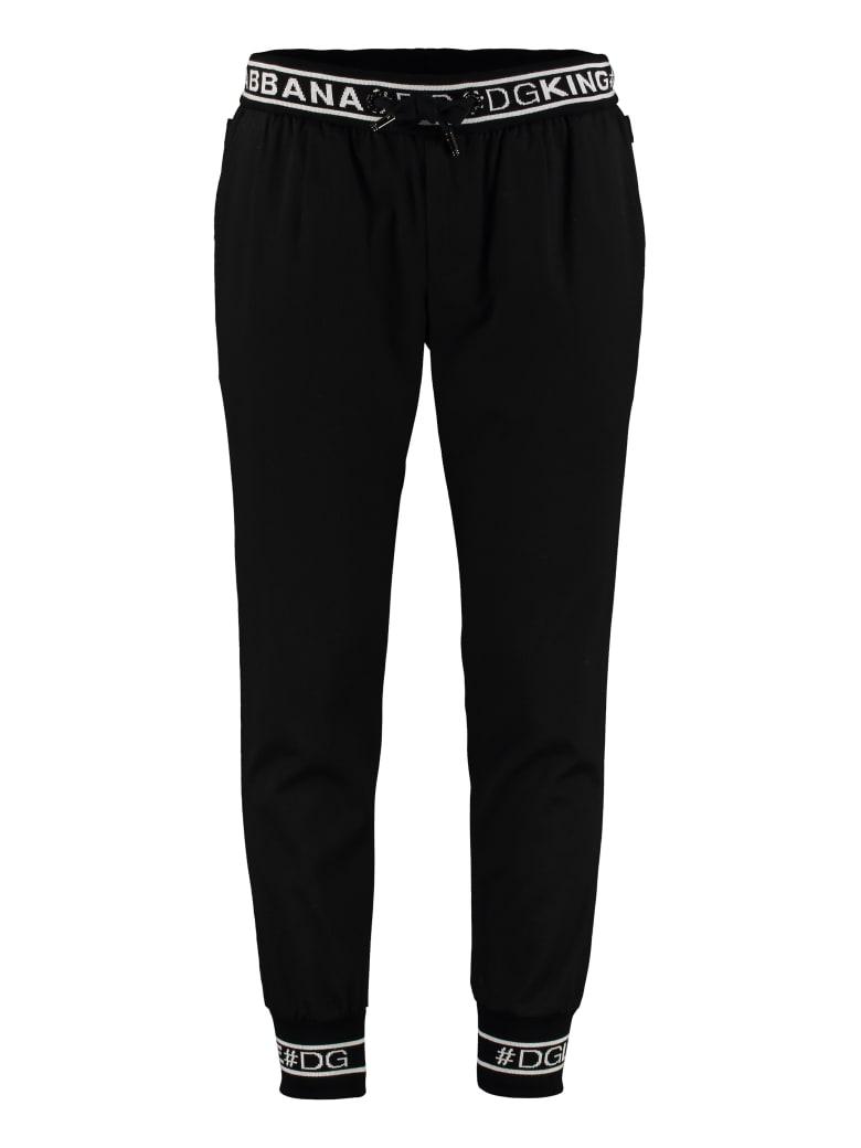 Dolce & Gabbana Stretch Cotton Track-pants - black