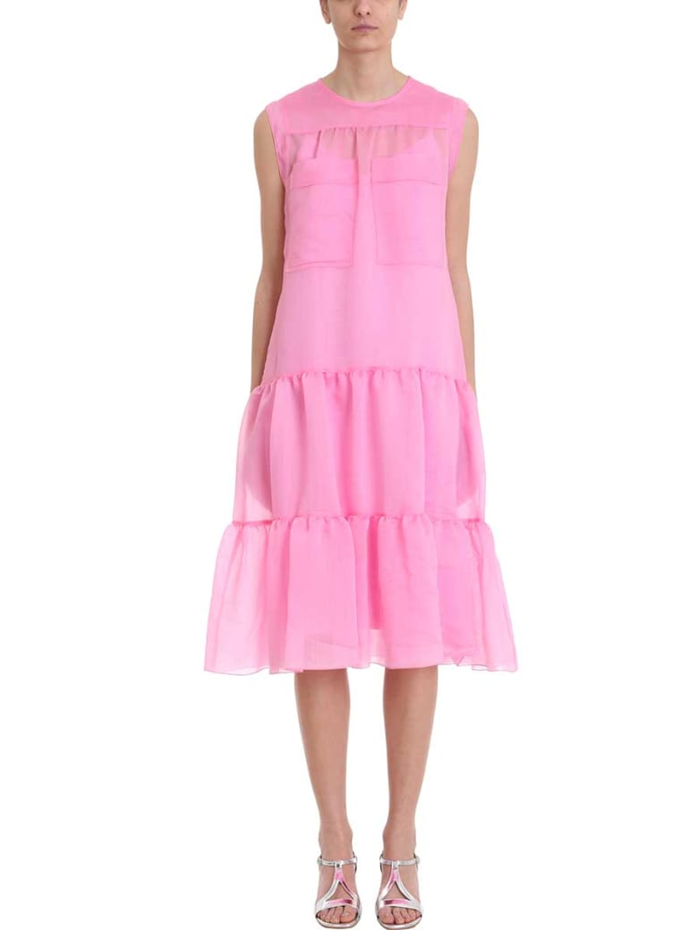 See by Chloé Tiered Sleeveless Midi Dress - rose-pink