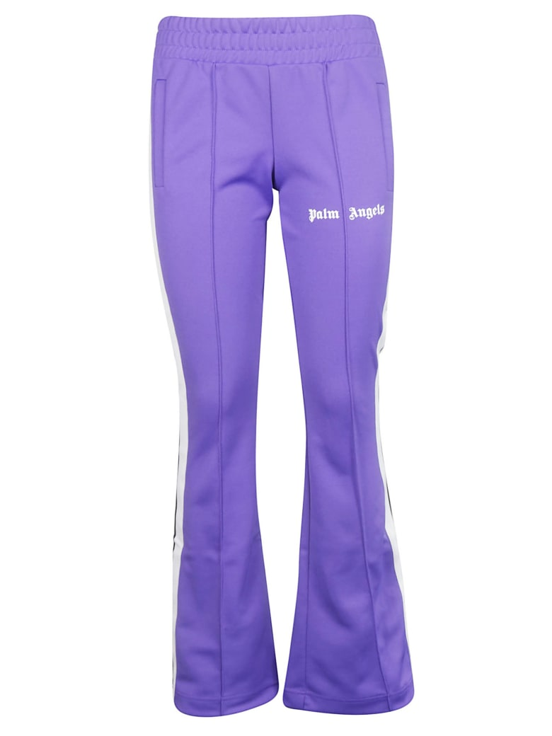 Palm Angels Jersey Track Pants - Purple White