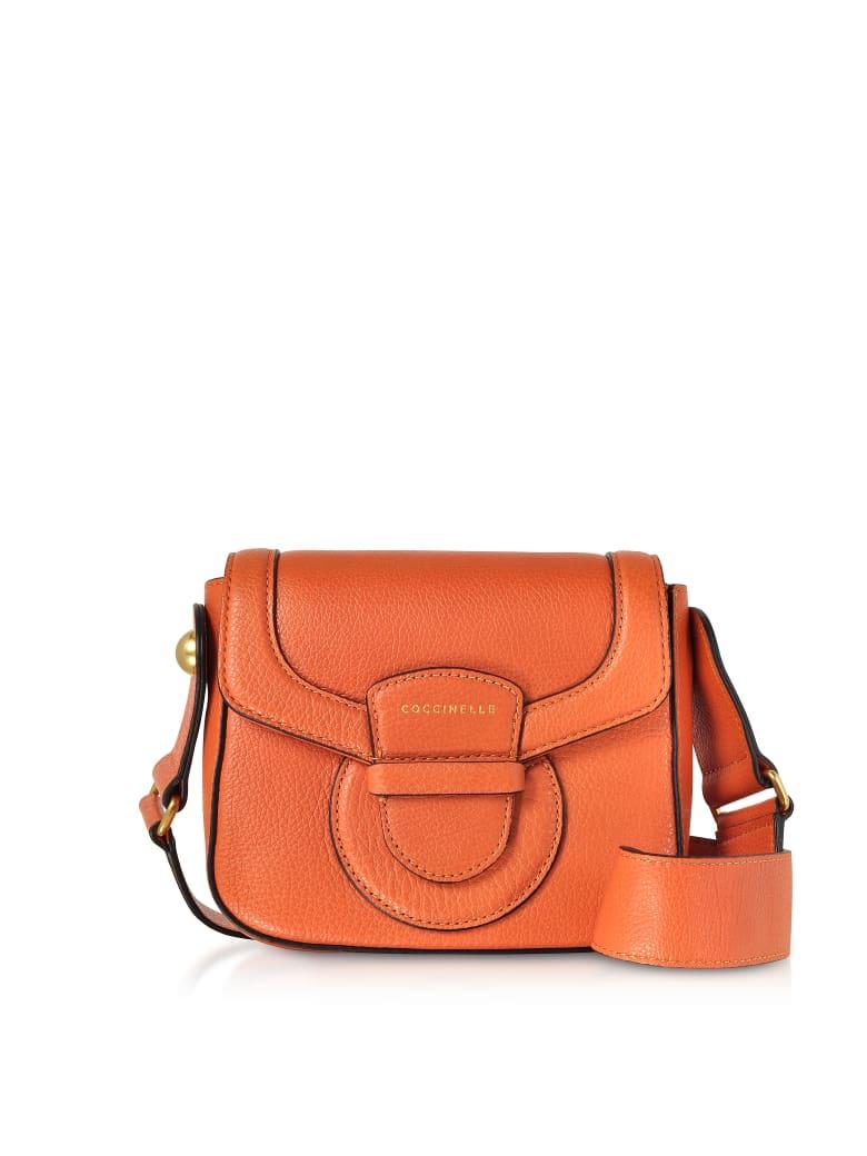 Coccinelle Vega Small Leather Shoulder Bag - Orange