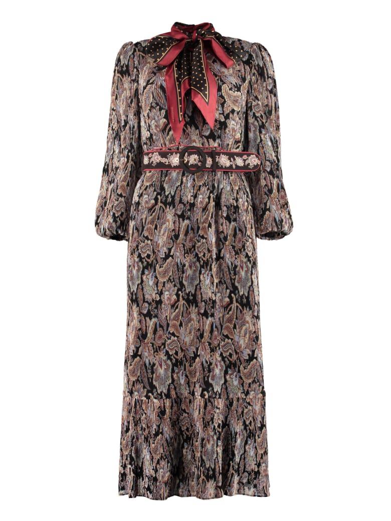 Zimmermann Belted Midi Dress - Multicolor