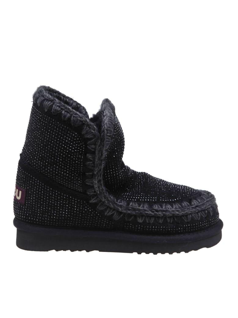 Mou Eskimo 18 Suede Sneakers - Black