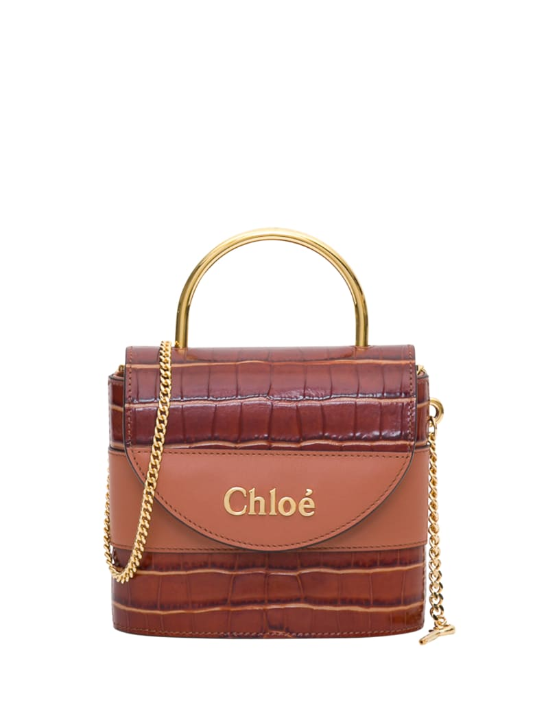Chloé Aby Lock Small Bag - Marrone