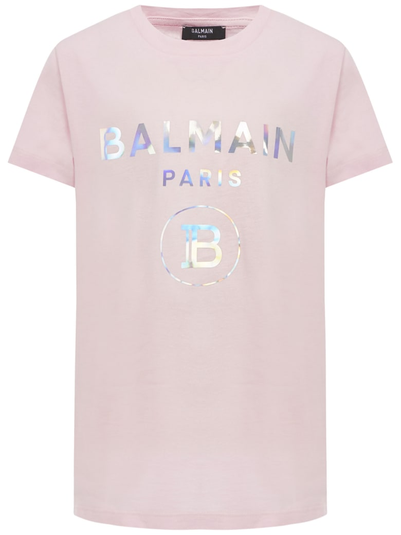 Balmain Paris Kids T-shirt - Pink