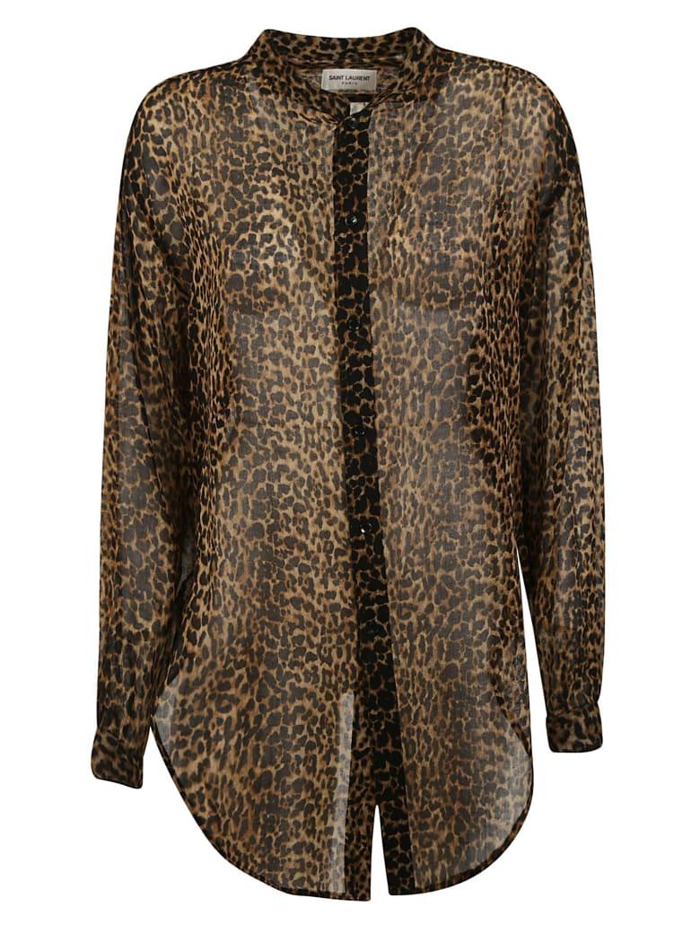 Saint Laurent Leopard Print Shirt - Leopard
