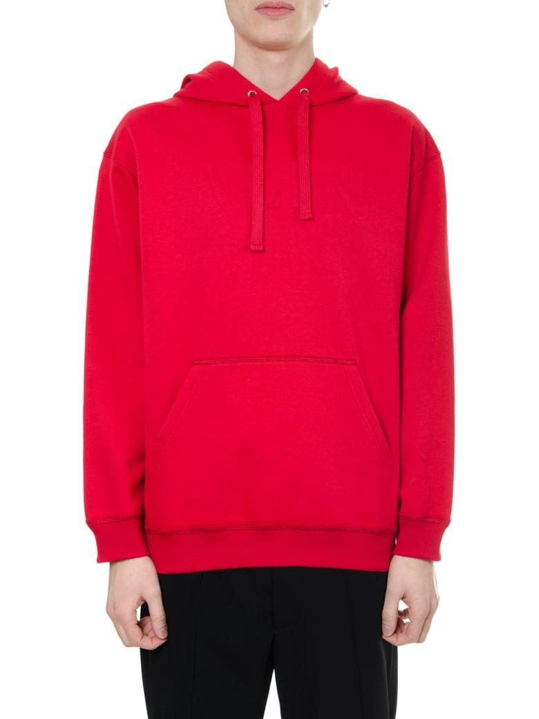 Valentino Red Cotton Sweatshirt Vltn Hoodie - Red