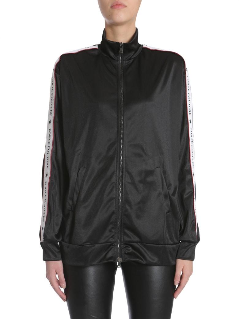 Forte Couture Zipped Sweatshirt - NERO