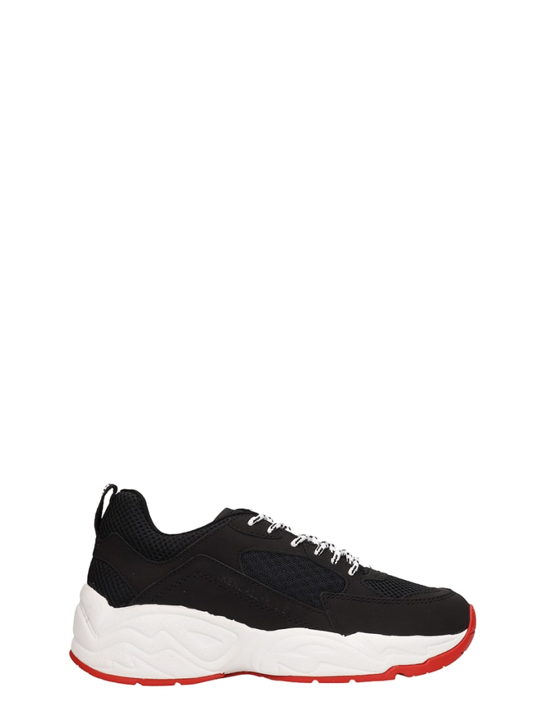 Kendall + Kylie Focus 6b Mesh And Leather Sneakers - black