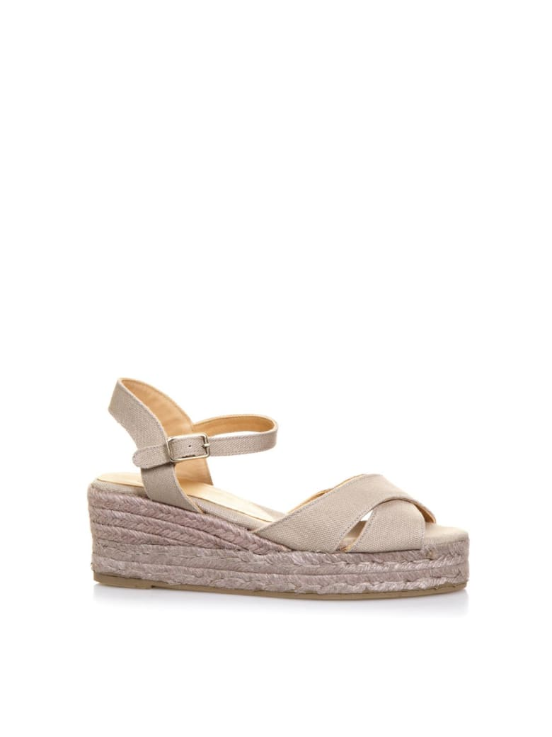 Castañer Beige Crossed Cotton Sandals - Beige