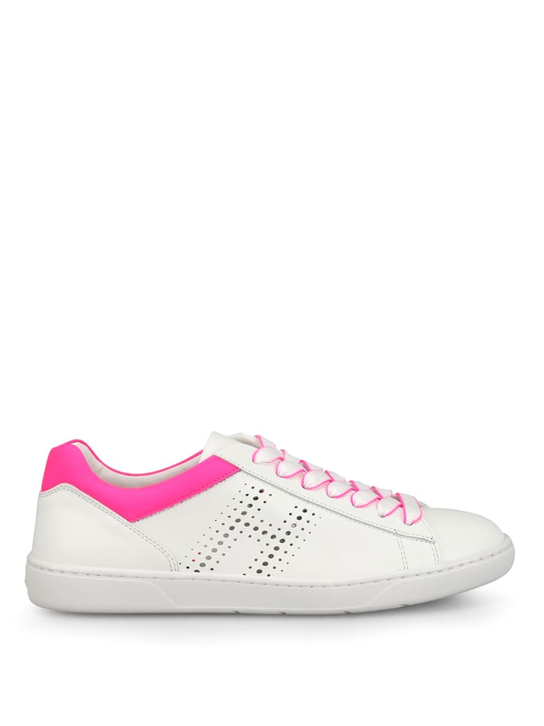 Hogan R327 Fluo Detailed Sneakers - White