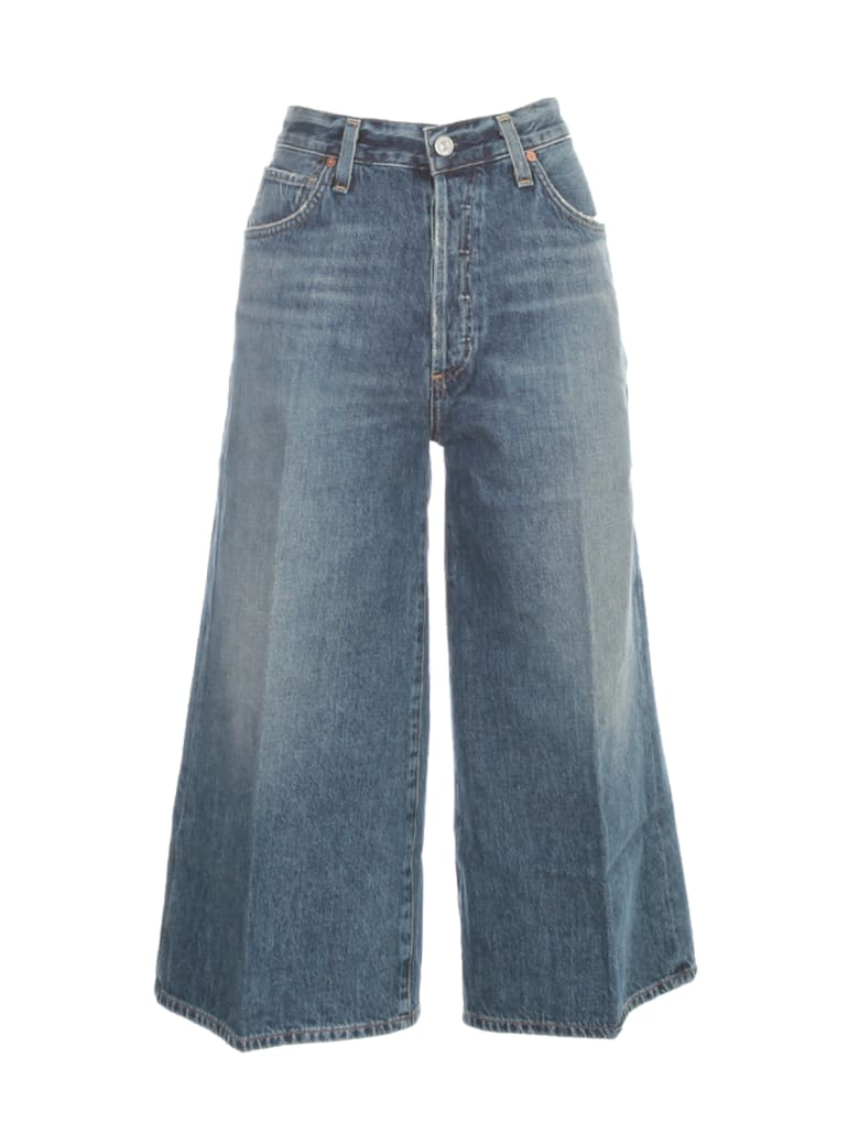 Citizens of Humanity Emily Culotte In Favorite Jeans Pants - Denim Medio
