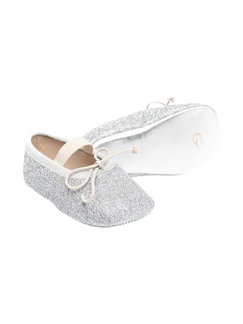Gallucci Silver Ballet Flats